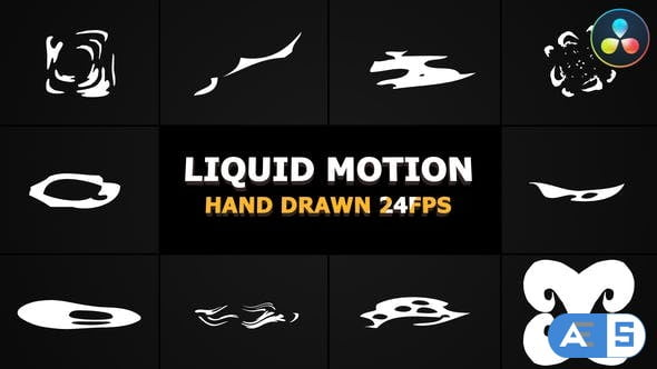 Videohive – Abstract Liquid Elements | DaVinci Resolve – 31832839