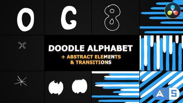 Videohive – Doodle Alphabet | DaVinci Resolve – 31823922