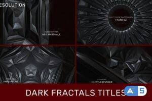 Videohive Dark Fractals Titles 32323972