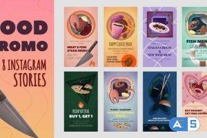 Videohive Food Promo Instagram Stories Pack 32320898