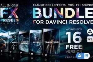 Videohive – FX Presets Bundle for DaVinci Resolve | Transitions, Effects, VHS, SFX – 30888590 – V1