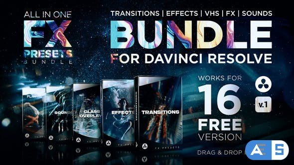 Videohive – FX Presets Bundle for DaVinci Resolve   Transitions, Effects, VHS, SFX – 30888590 – V1