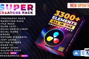 Videohive – Super Creators Pack (3300+ Elements) – 30929735 – V1.4