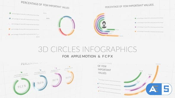 Videohive – 3D Circles Infographics – 30811289