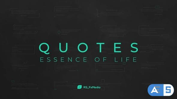 Videohive Quotes Titles   Essence of Life 32000634