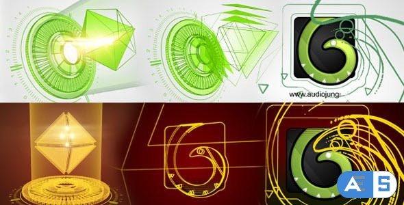 Videohive Hedra Hologram Reveal Logo 7913154