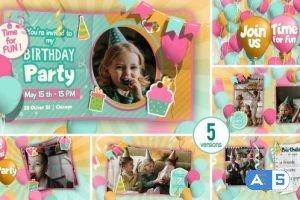 Videohive Happy Birthday invitation and Slideshow 32337846
