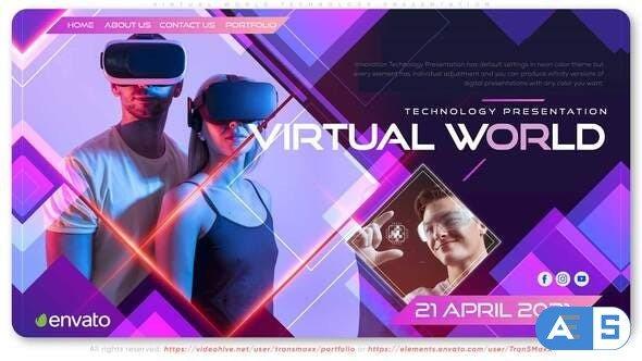 Videohive Virtual World Technology Presentation 32398388