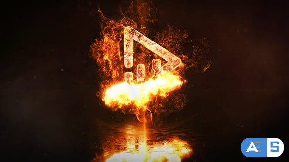 Videohive – Fire Logo Reveal – 31945425