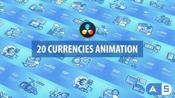 Videohive – Currencies Animation   DaVinci Resolve – 32537681