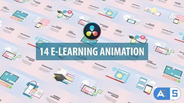Videohive – E-Learning Animation | DaVinci Resolve – 32536977