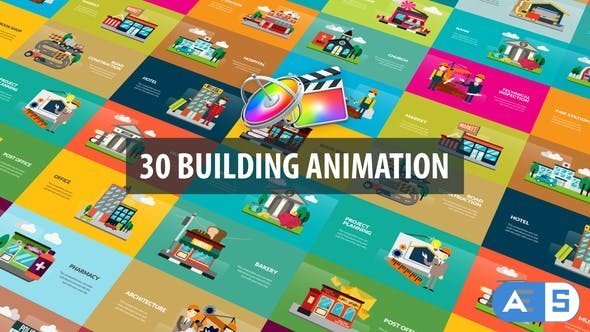 Videohive – Building Animation | Apple Motion & FCPX – 32526241