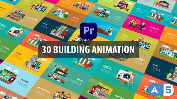 Videohive – Building Animation | Premiere Pro MOGRT – 32526221