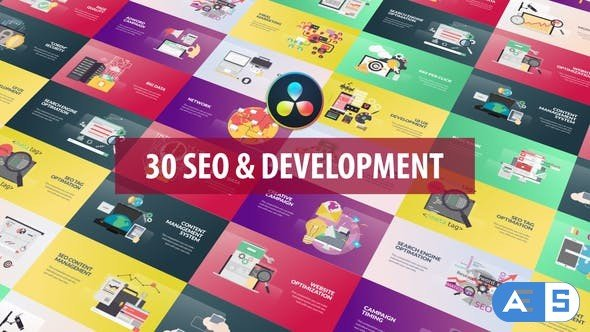 Videohive – SEO and Development Animation | DaVinci Resolve – 32524115
