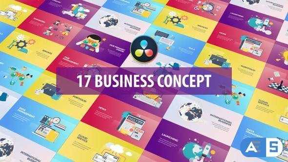 Videohive – Business Concept Animation   DaVinci Resolve – 32513841
