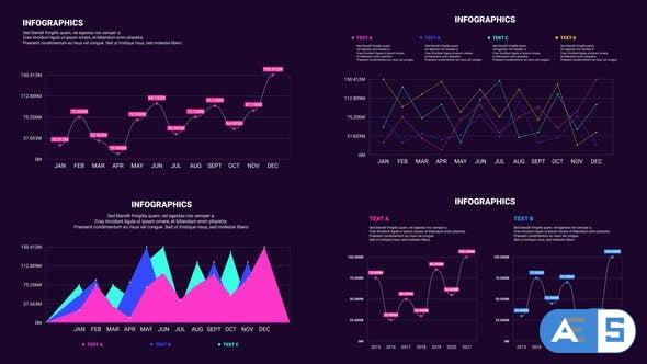 Videohive – Customizable Line Infographics – 32496724