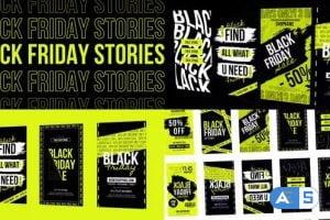 Videohive – Black Friday Typography Stories MOGRT – 32494553