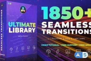 Videohive – Seamless Transitions for DaVinci Resolve V3.1 – 29835571