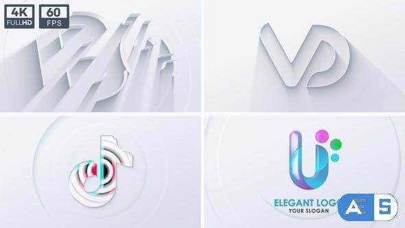 Videohive Neumorphism Clean 3D Logo 32593199