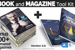 Videohive – Book and Magazine ToolKit | 700+Premade Magazine Animations V2 – 27589024