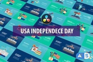 Videohive – USA Independence Day Animation | DaVinci Resolve – 32600925