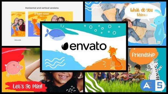 Videohive – Cartoon Kids Slideshow    DaVinci Resolve – 32583234
