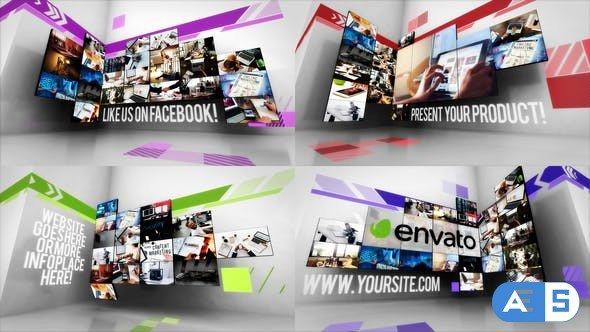 Videohive – Creative Video Wall Slideshow – 32537618
