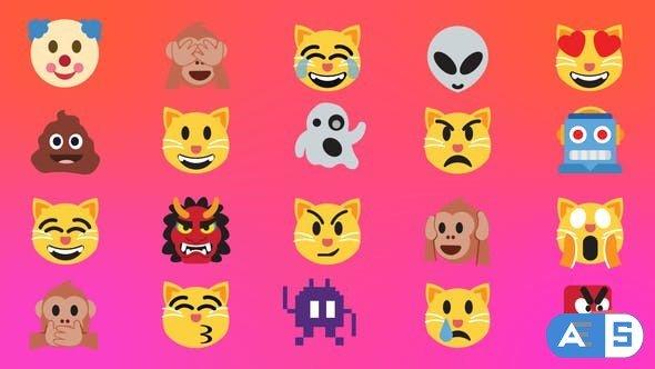 Videohive Animated Emoji Pack v4.0 30780801