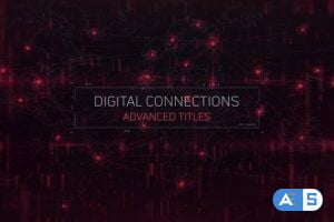 Videohive Digital Connections Titles 32609614