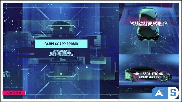 Videohive Carplay App Promo/Tesla/ Innovations/ Technology/ New Car Reveal/ Logo Opener/ Youtube/ Presentation 32608063