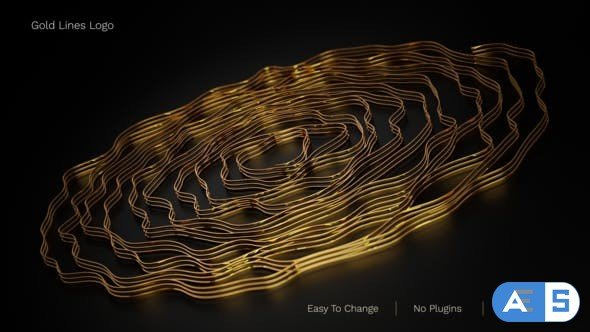 Videohive Gold Lines Logo 31530330