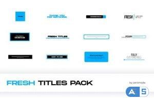 Videohive Fresh Titles 32553377