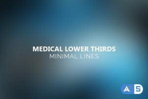Videohive Medical Lower Thirds – Minimal Lines 12182059