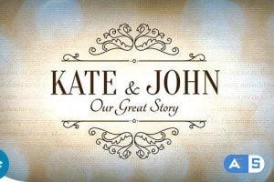 Videohive Vintage Wedding Slideshow 10842561