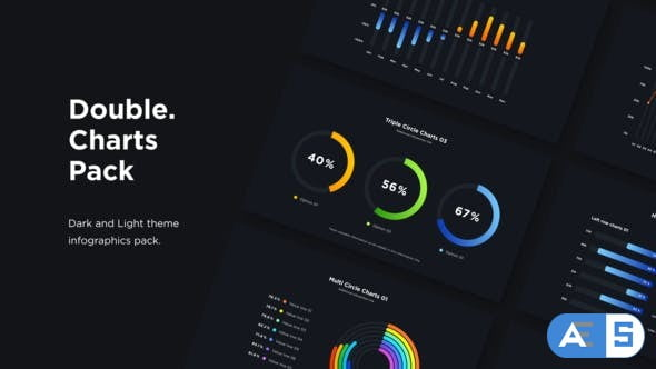 Videohive Double – Infographics Charts Pack 32667091