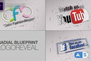 Videohive – Blueprint Radial Logo Reveal. 3 items – 32676674