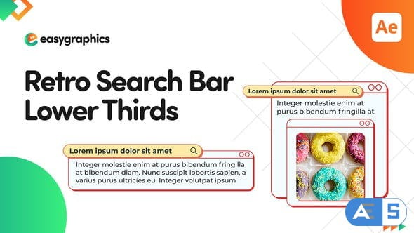 Videohive Retro Search Bar Lower Thirds 32753394