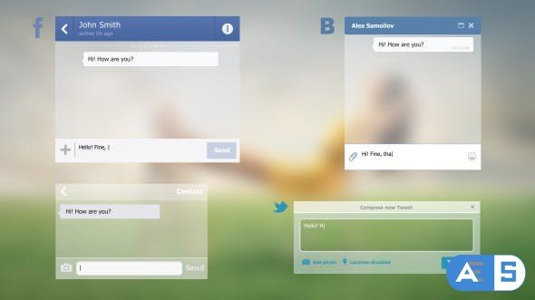 Videohive Messages Social Networks 9916826