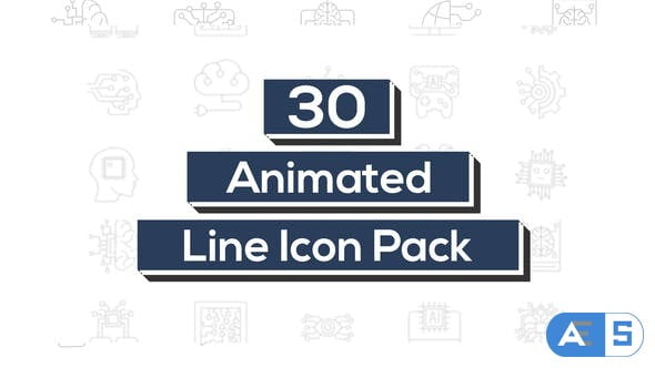 Videohive Artificial Intelligence Line Icons 32784336