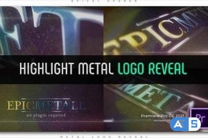 Videohive – Highlight Metal Logo Reveal – 32798681