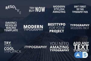 Videohive – Modern Typo Pack – 32773343