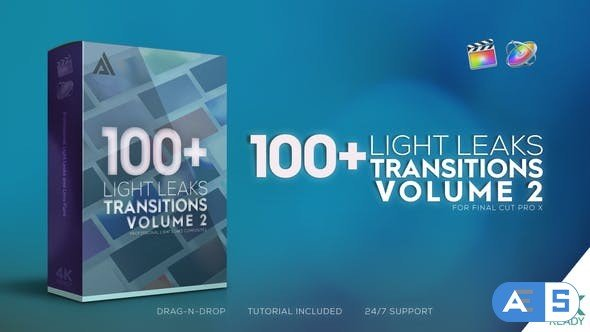 Videohive – 4K Light Leaks Transitions Vol 2   For FCPX – 32444976