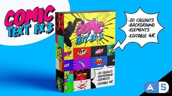 Videohive Comic Text Fx 3 32070485