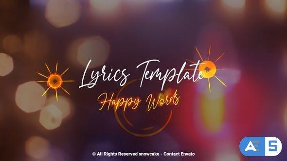 Videohive Lyrics Template Happy Words 32336687