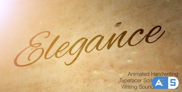 Videohive Elegance – Animated Handwriting Typeface 6903346