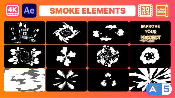 Videohive Smoke Elements And Titles | After Effects 33018078