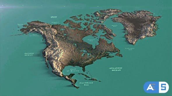 Videohive North America Map DR 33139936