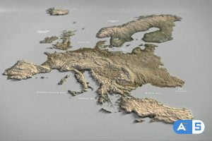 Videohive Europe Map DR 33140512