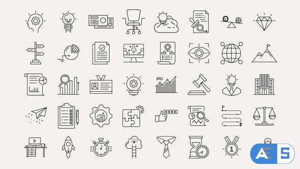 Videohive Business & Startup Line Icons 33145242