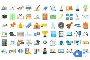 Videohive 100 Education & E-Learning Icons 33159957